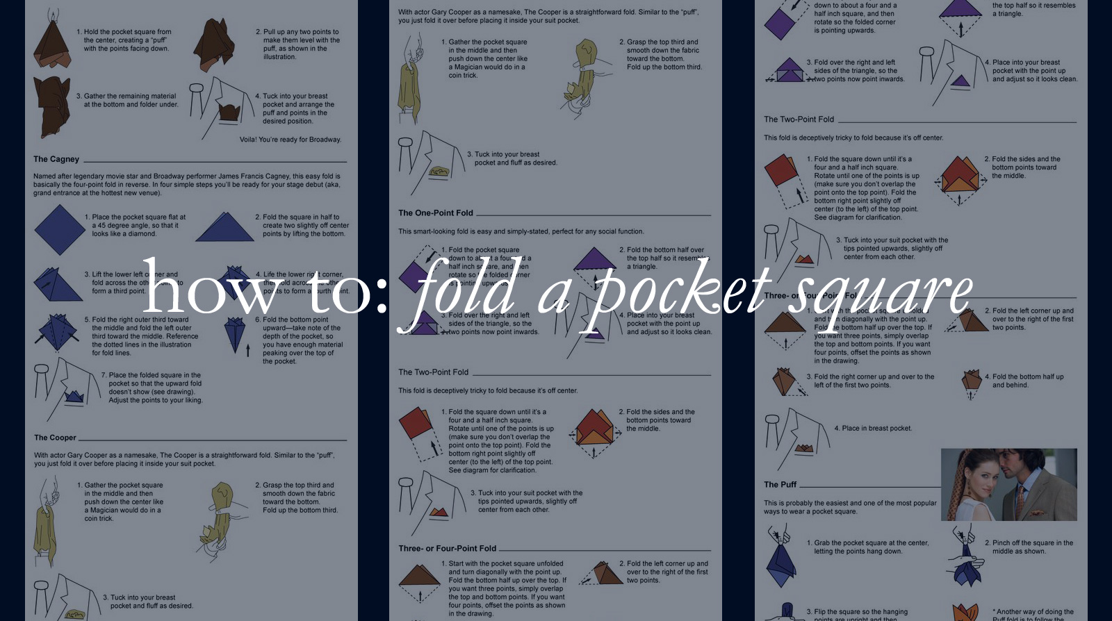 How to: fold a pocket square