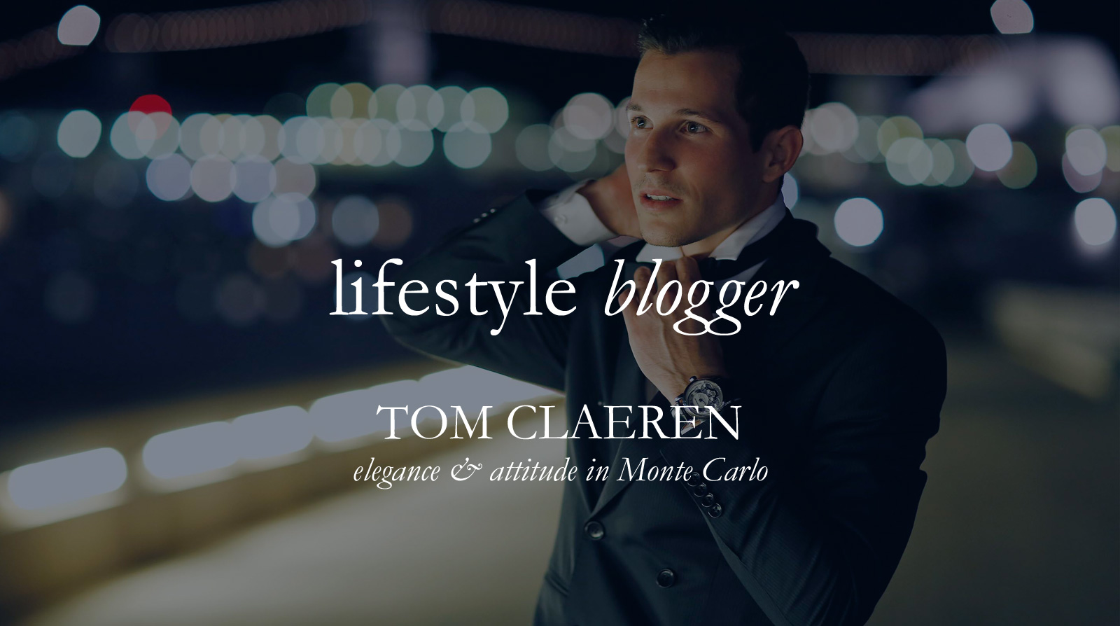 Lifestyle Blogger Tom Claeren